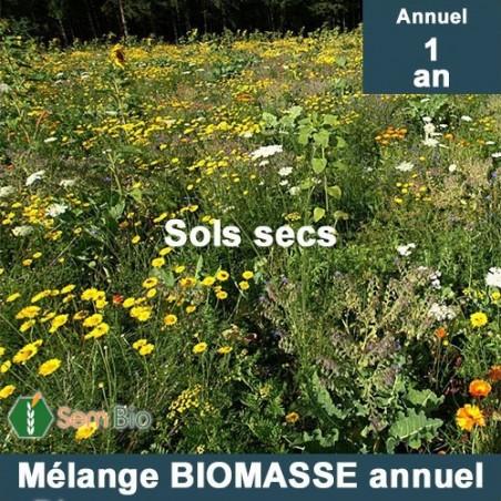Mélange BIOMASSE ANNUEL pour sols secs